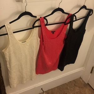 Lot 3 Express Women's M Sequined Tanks
